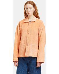 STORY mfg. - Women's Short On Time Corduroy Jacket In Orange - Lyst