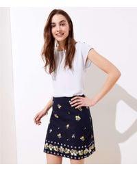 LOFT - Embroidered Shift Skirt - Lyst