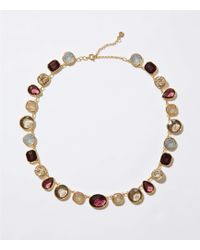 LOFT - Mixed Crystal Statement Necklace - Lyst