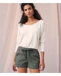 LOFT - Lou & Grey Garment Dye Poplin Shorts - Lyst