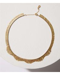 LOFT - Metallic Fringe Necklace - Lyst