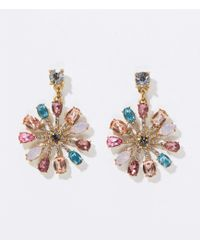 LOFT - Stone Sunburst Earrings - Lyst