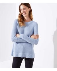 LOFT - Ribbed Crossover Back Sweater - Lyst