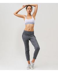 LOFT | Lou & Grey Form Heathered Track Pants - Anytime | Lyst