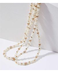 LOFT - Extra Long Pearlized Beaded Necklace - Lyst