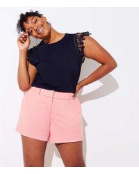 LOFT - Plus Riviera Shorts With 5 Inch Inseam - Lyst