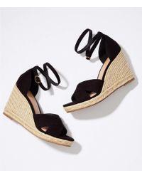 LOFT - Espadrille Wedge Sandals - Lyst