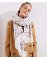 LOFT - Striped Blanket Scarf - Lyst