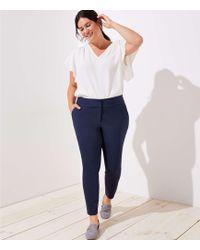 LOFT - Plus Skinny Back Slit Ankle Pants - Lyst
