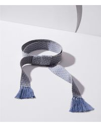 LOFT - Diamond Fringe Tie Belt - Lyst