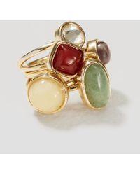 LOFT - Mixed Stone Ring Set - Lyst