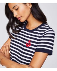 LOFT - Anchor Patch Textural Jumper Tee - Lyst