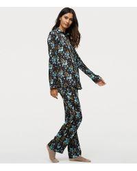 LOFT - Winter Garden Silky Pajama Top - Lyst