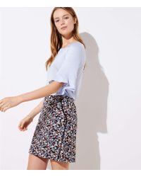 LOFT - Petite Floral Lacy Pocket Shift Skirt - Lyst