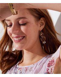 LOFT - Pearlized Loop Drop Earrings - Lyst