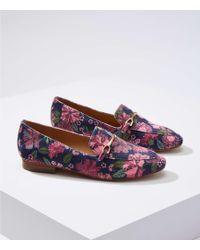 LOFT - Floral Velvet Modern Loafers - Lyst