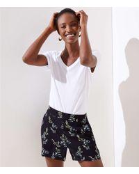 LOFT - Floral Flare Shorts - Lyst