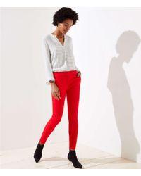LOFT - Slim Tie Waist Pencil Trousers In Marisa Fit - Lyst