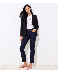 LOFT - Curvy Straight Leg Jeans In Dark Rinse Wash - Lyst