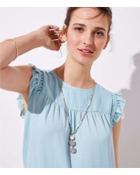 LOFT - Beaded Stacked Stone Necklace - Lyst
