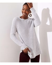 LOFT - Petite Ribbed Crossover Back Sweater - Lyst