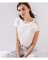 LOFT - Star Pyjama Tee - Lyst