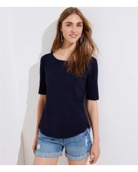 LOFT - Elbow Sleeve Tee - Lyst