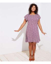 LOFT - Plus Flowerbud Flare Dress - Lyst