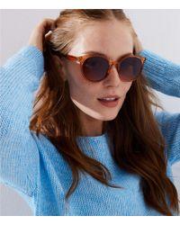 LOFT - Modern Round Sunglasses - Lyst