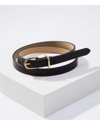LOFT - Leather Skinny Belt - Lyst