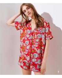 LOFT - Summer Blossom Pyjama Top - Lyst