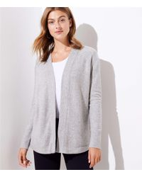 LOFT - Shirttail Open Cardigan - Lyst