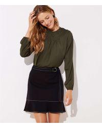 LOFT - Tie Waist Ponte Flippy Skirt - Lyst