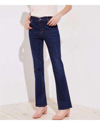 LOFT - Curvy Bootcut Jeans In Dark Classic Indigo Wash - Lyst