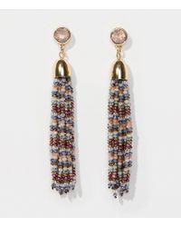 LOFT | Beaded Tassel Earrings | Lyst