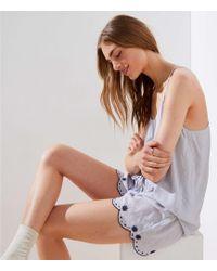 LOFT - Embroidered Cami Pajama Set - Lyst