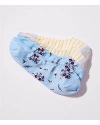 LOFT - Wildflower No Show Sock Set - Lyst