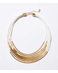 LOFT - Two Tone Multistrand Necklace - Lyst