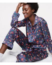 LOFT - Floral Silky Pyjama Set - Lyst