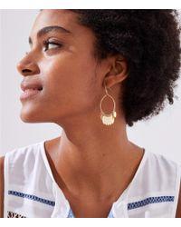 LOFT - Glowing Metallic Hoop Earrings - Lyst