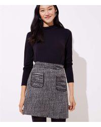LOFT - Tweed Pocket Skirt - Lyst