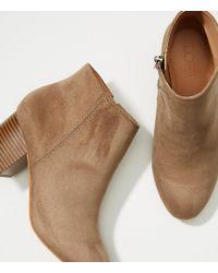LOFT - Block Heel Ankle Boots - Lyst