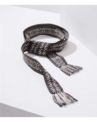 LOFT - Mosaic Fringe Tie Belt - Lyst
