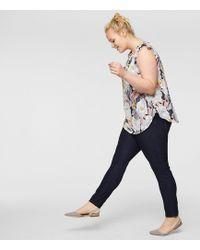 LOFT - Plus Skinny Jeans In Dark Rinse Wash - Lyst