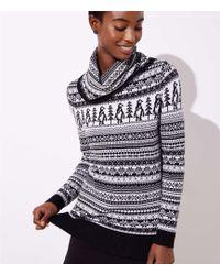 LOFT - Petite Penguin Fairisle Sweater - Lyst