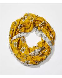 LOFT - Mixed Floral Infinity Scarf - Lyst