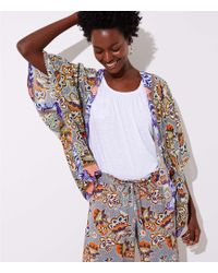 LOFT - Exotic Garden Kimono - Lyst