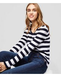 LOFT - Striped Shirttail Tee - Lyst