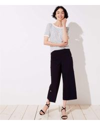 LOFT - Cropped Wide Leg Sailor Pants - Lyst