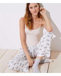LOFT - Bicycle Pyjama Trousers - Lyst